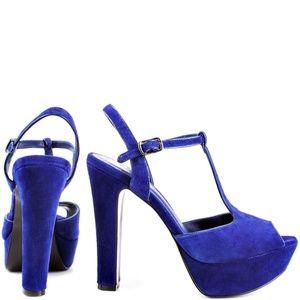 BCBGeneration Patrick Royal Violet Suede Heels 9
